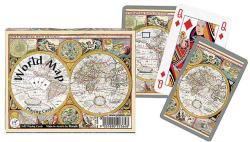 Piatnik World Map 2*55 lapos luxus römikártya