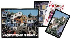 Piatnik Hundertwasser-ház 2*55 lapos luxus römikártya