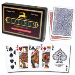 Modiano Cards Platinum Acetate Standard Indexes (dupla pakli)