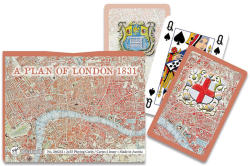 Piatnik London térképe 1831-ben römikártya 2*55 lap