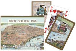 Piatnik New York térképe 1853-ban römikártya 2*55 lap