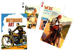 Piatnik Motorbike art römikártya 1*55 lapos