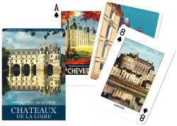 Piatnik Chateaux de la Loire römikártya 1*55 lap