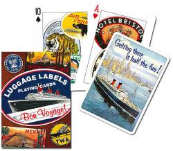 Piatnik Bőrönd címkék exkluzív römikártya