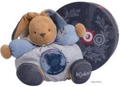 Kaloo Blue Denim Chubby Rabbit - Puha nyuszi csörgővel 30cm ajándékcsomagolásban