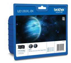 Brother LC1280XLBKBP2DR Black Twin Pack