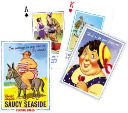 Piatnik Saucy Seaside/Vicces nyaralás - angol exkluzív römi kártya 1*55 lap