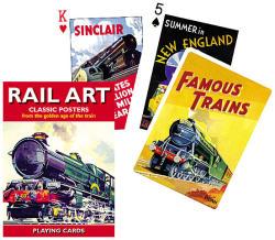Piatnik Rail Art exkluzív römikártya 1*55 lap