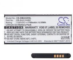 Utángyártott Samsung Li-ion 1700 mAh EB-BA310ABE