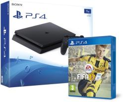 Sony PlayStation 4 Slim Jet Black 1TB (PS4 Slim 1TB) + FIFA 17