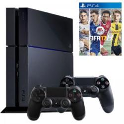 Sony PlayStation 4 Jet Black 1TB (PS4 1TB) + FIFA 17