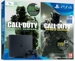 Sony PlayStation 4 Slim Jet Black 1TB (PS4 Slim 1TB) + Call of Duty Infinity Warfare Legacy Edition