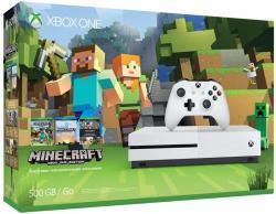 Microsoft Xbox One S (Slim) 500GB + Minecraft