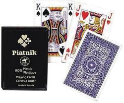 Piatnik Plasztik 4 indexes póker kártya 1*55 lap, műanyag dobozban