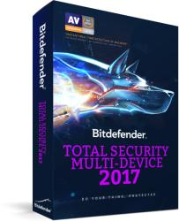 Bitdefender Total Security Multi-Device 2017 (5 User, 1 Year) CB11911005