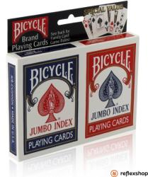 The United Stated Playing Card Company Bicycle Rider Back Jumbo indexes pókerkártya, dupla