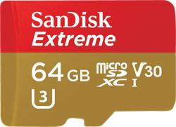 SanDisk MicroSDXC Extreme 64GB UHS-III SDSQXVF-064G-GN6MA