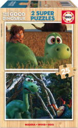 Educa Disney Dínó tesó fa puzzle, 2x25 darabos (E15916)
