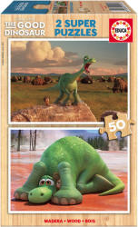 Educa Disney Dínó tesó fa puzzle, 2x50 darabos (E15917)
