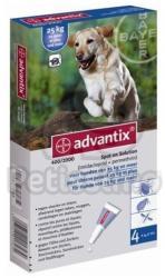 Advantix soluţie spot-on pentru câini A. U. V. pentru câini între 25-40 kg - petissimo - 182,29 RON