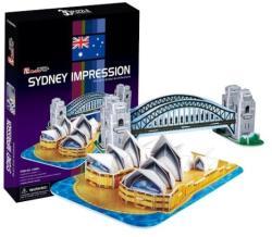 CubicFun Sydney látványosságai 3D puzzle 59db-os szett