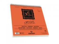 CANSON Album de desen spiralat pe latura mica XL Croquis, 30 x 30cm, 90 g/mp, 120 file, CANSON (200787117)