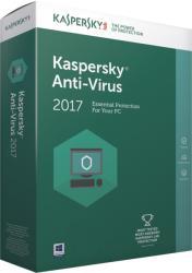 Kaspersky Anti-Virus 2017 Renewal (1 User, 1 Year) KL1171OCAFR