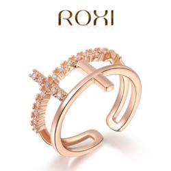 ROXI Dupla Kereszt Gyűrű Arany Bevonattal