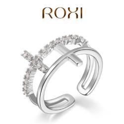 ROXI Dupla Kereszt Gyűrű 18 Karátos Arany Bevonattal