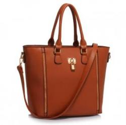 Vásárlás  LeeSun Fémzáras barna női táska - Cosima 2 Női táska árak ... 9843c915d3