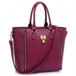 LeeSun Fémzáras burgundi női táska - Cosima 2