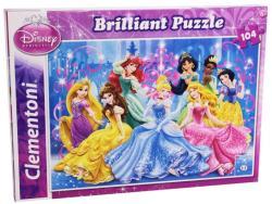 Clementoni Disney Hercegnők csillogó puzzle 104 db-os (20128)