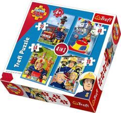 Trefl Sam, a tűzoltó - 4 az 1-ben (35, 48, 54, 70 db-os) puzzle (34269)
