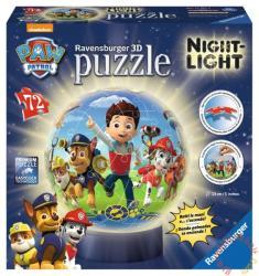 Ravensburger Mancs őrjárat 3D világító gömb puzzle 72 db-os (12187)