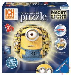 Ravensburger 3D világító gömb puzzle - Minyonok 72 db-os (12168)