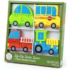 Bead Bazaar Robogó járgányok fa puzzle 4 db-os