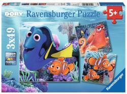 Ravensburger Szenilla nyomában puzzle 3x49 db-os