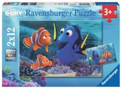 Ravensburger Szenilla nyomában puzzle 2x12 db-os (07601)