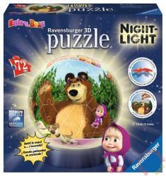 Ravensburger Mása és a medve 3D világító gömb puzzle 72 db-os (12179)
