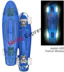 Juicy Susi vinyl board II. clear cyan fothon világítós LED kerekekkel