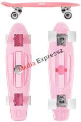 Juicy Susi vinyl board II. clear pink világítós LED kerekekkel