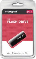 Integral Black 64GB USB 2.0 INFD64GBBLK