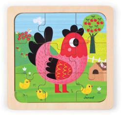 Janod Violette csirke puzzle (J07064)