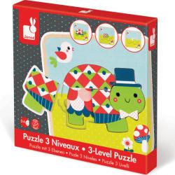 Janod 3-szintű puzzle - teknős (J07012)