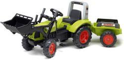 FALK Claas Arion 430 lábbal hajtós markolós traktor utánfutóval