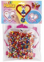 Hama Midi vasalható gyöngy mix 1000db-os szív alakú sablonnal és kerettel