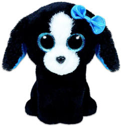 TY Inc Beanie Boos - Tracey fekete/fehér kutya 15cm  (MCEE-TY37191)