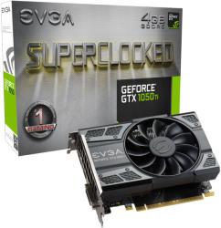 EVGA GeForce GTX 1050 Ti SC GAMING 4GB GDDR5 128bit PCIe (04G-P4-6253-KR)
