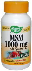Nature`s Way, САЩ МСМ/Метилсулфонилметан Nature's Way 1000 мг х 120/200 V-капсули (15132-15133)