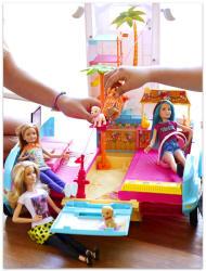 Mattel Barbie ás húgai - Az elveszett kutyusok - kutyusmobil (DLY33)